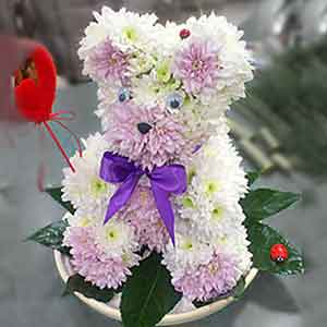 Мишки из цветов